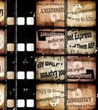 gammal filmfilm royaltyfria bilder