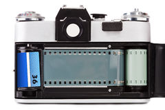Gammal filmfoto-kamera för tappning Arkivfoto
