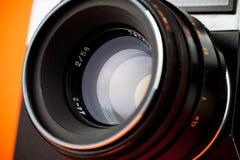Gammal filmfoto-kamera för tappning Fotografering för Bildbyråer