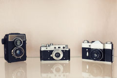 Gammal filmSLR kamera Fotografering för Bildbyråer