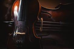 Gammal fiol och violoncell royaltyfria bilder