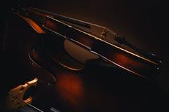 Gammal fiol och violoncell royaltyfri fotografi