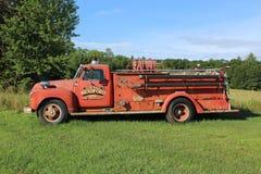 gammal firetruck Royaltyfri Fotografi