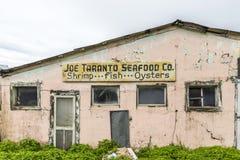 Gammal fiskerifabrik i Apalachicola Royaltyfri Bild