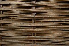 Gammal flätad wood texturmodell Royaltyfri Foto