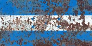 Gammal flagga för Honduras grungebakgrund Royaltyfria Bilder