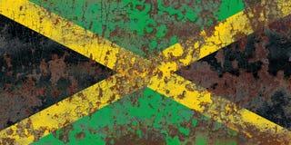 Gammal flagga för Jamaica grungebakgrund Arkivfoton