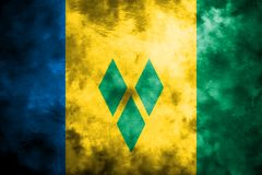 Gammal flagga för Saint Vincent och Grenadinerna grungebakgrund vektor illustrationer