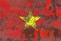 Gammal flagga för Vietnam grungebakgrund Royaltyfri Foto