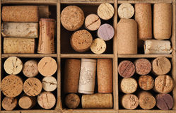 Gammal flaskkork Arkivbilder