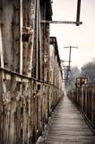 gammal flod för bro Royaltyfria Bilder