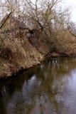 gammal flod för hus Arkivfoton
