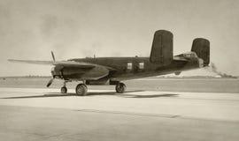 gammal flygplanbombplan Arkivfoton