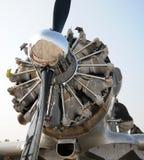 gammal flygplanmotor Royaltyfria Foton