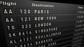 Gammal flygplatsaffischtavla lager videofilmer