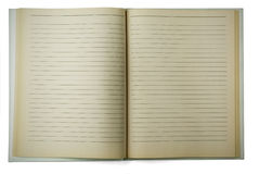 gammal fodrad anteckningsbok Royaltyfria Foton