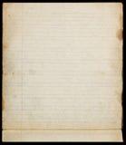 Gammal fodrad pappers- sida med marginaler royaltyfria bilder