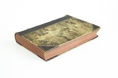 Gammal forntida bok med isolerad bakgrund Arkivbilder