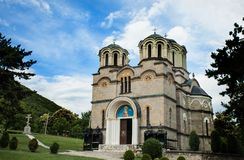 Gammal forntida kyrklig komplex och kloster Royaltyfria Foton
