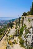 Gammal fort i Klis, Kroatien Royaltyfria Bilder