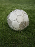 Gammal fotboll Royaltyfria Bilder