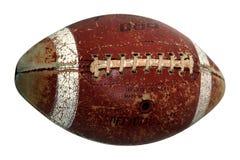 gammal fotboll för amerikansk boll arkivfoto
