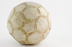 gammal fotboll för boll Royaltyfri Foto