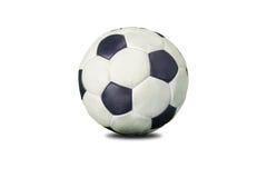 gammal fotboll för boll Arkivfoto