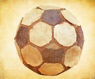 Gammal fotbollboll stock illustrationer
