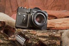Gammal fotocamera royaltyfria foton