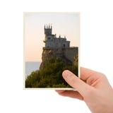 gammal fotografi för slotthand Arkivfoto