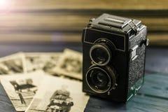gammal fototappning för kamera Arkivfoto