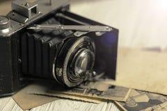 gammal fototappning för kamera Arkivbilder
