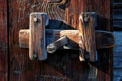 gammal främre latch för dörr arkivfoto