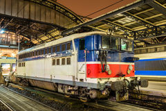 Gammal fransk elektrisk lokomotiv Royaltyfri Fotografi