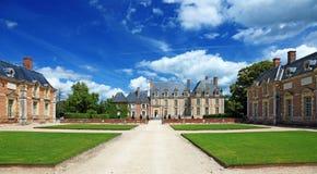 gammal fransk herrgård Arkivbild