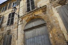 gammal fransk herrgård Arkivbilder