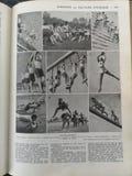 Gammal fransk medicinsk bok med illustrationer arkivbild