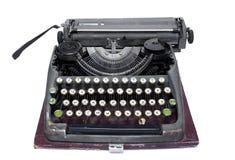 Gammal författare med det pappers- arket Arkivfoto