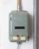 Gammal fusebox från 80-tal Arkivfoto