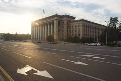 Gammal fyrkant av Almaty Fotografering för Bildbyråer