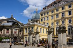 Gammal fyrkant i Dresden germany Fotografering för Bildbyråer