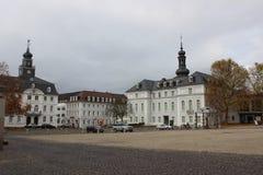 Gammal fyrkant i Saarbrucken Royaltyfria Bilder