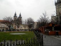 Gammal fyrkant, Prague, Tjeckien Royaltyfri Foto