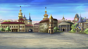gammal fyrkantig town Arkivbilder