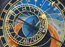 gammal fyrkantig town för astronomical klocka Arkivfoto