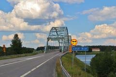 Gammal Gäddvik bro Arkivfoto