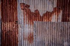 Gammal galvaniserad järnväggtextur Fotografering för Bildbyråer