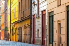gammal gata Arkivfoto