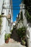 Gammal gata av Marbella Arkivbilder